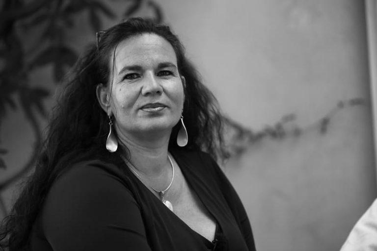 schwarz weiß Portrait Andrea Kalff