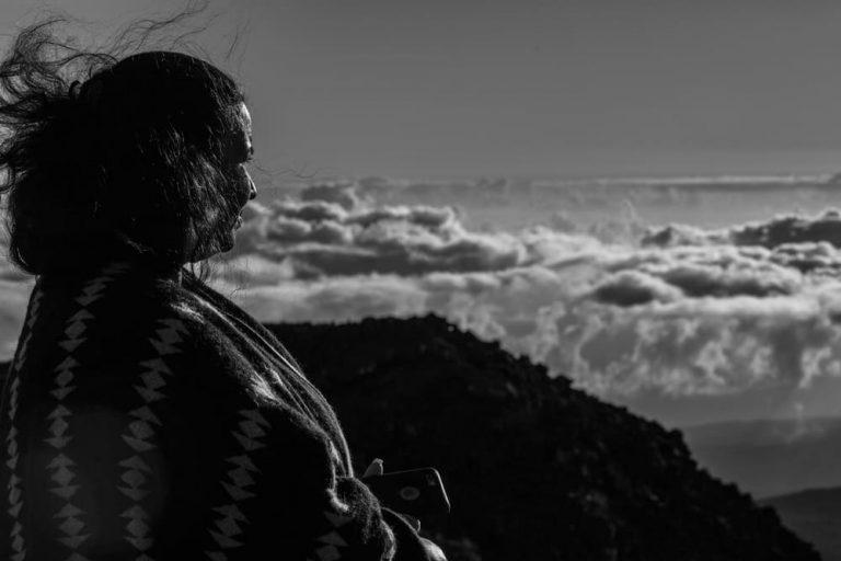 Haleakala Hawaii schwarz weiß Schamanin Andrea Kalff